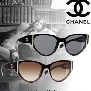 CHANEL Blended Fabrics Cat Eye Glasses [ 2019-20AW